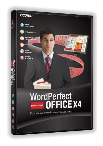 Corel wordperfect office x4 standard greatly discounted price