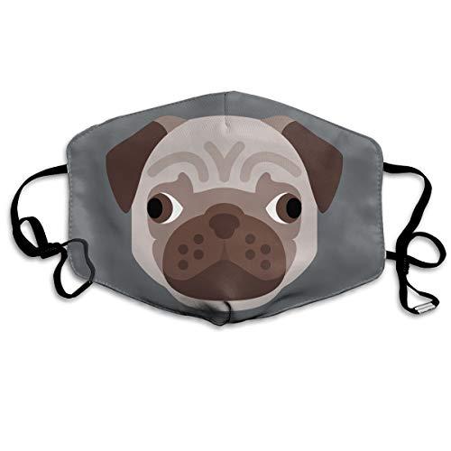 SyjTZmopre Pug Icon Mouth Mask Unisex Printed Fashion Face Anti-dust Masks -