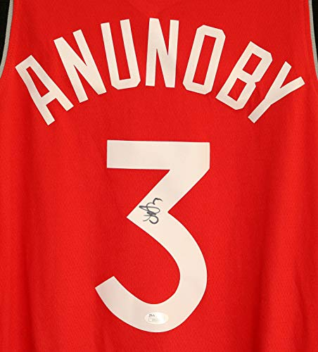 88b711816 OG Anunoby Toronto Raptors Signed Autographed Red  3 Custom Jersey JSA COA