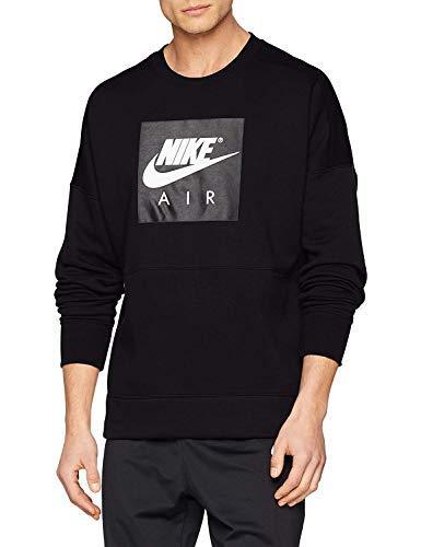 - Nike Men's Air Sport Casual Crew Sweatshirt-Black-Medium
