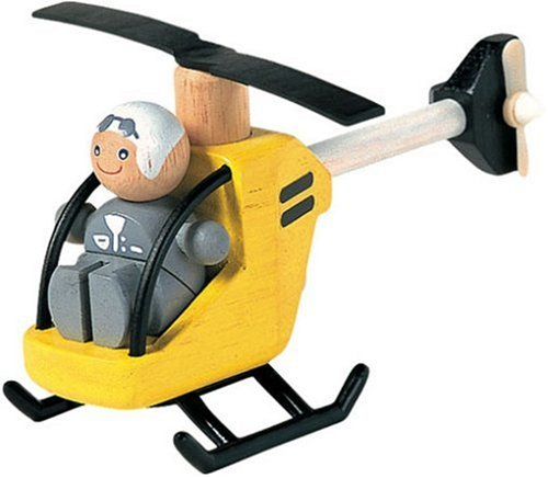 PlanToys Helicopter with Pilot Playset
