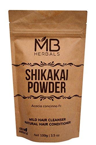MB Herbals Pure Shikakai Powder 100g/3.5 Oz - 100% Pure Acacia concinna Fruit Pods Powder - Natural Hair Cleanser & ()