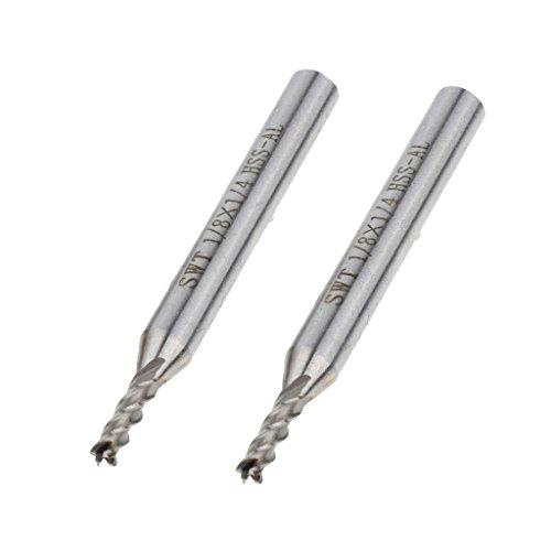 kesoto 2pcs Mini Drill HSS Bits Shank Twist Drill Bits -1/2' 1/4' 1/8' 3/16' 5/16' - Silver, 3