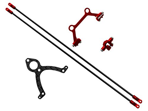 Rakonheli CNC AL Tail Boom Support Set (Red) - Blade mCP (Tail Boom Support)