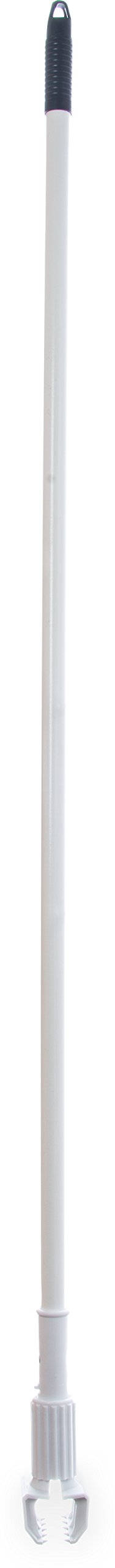 Carlisle 36947502 Jaw Style Mop Handle, 1'' H, 60'' L, 1'' W, Fiberglass, 60'', White (Pack of 12)