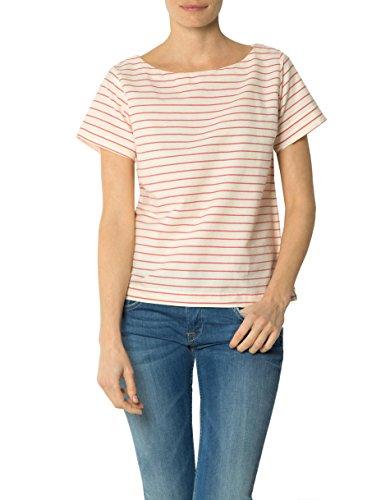 Gant Damen Bluse Baumwolle Blusenshirt Gestreift, Größe: 42, Farbe: Rot