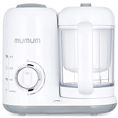 MUMUM Pro Baby Food Maker | 4-in-1 with Defroster, Steamer, Cooker & Blender