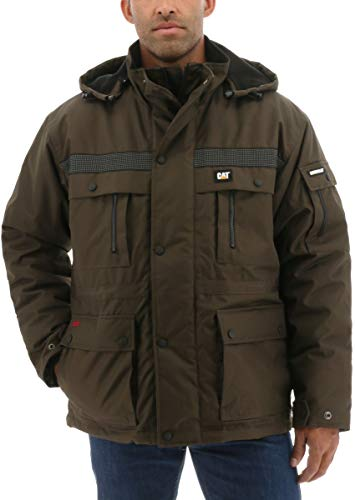 Caterpillar Men's Heavy Insulated Parka (XXL, Dark Earth) from Caterpillar