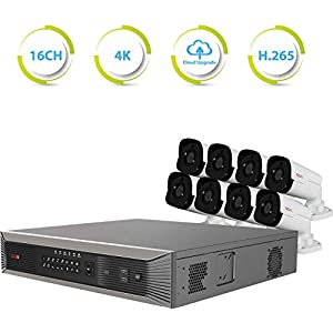 Revo America Ultra Plus Commercial Grade 16 CH 4K H.265 NVR, 3TB Surveillance Grade HDD, Remote Access, with 8X 4 Megapixel Indoor/Outdoor True WDR IR Bullet Cameras