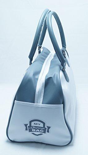 Retro vintagetasche My Sport Bag colore: bianco/grigio Shopper Bag tempo libero Sport Viaggi Unisex fa. Bowatex