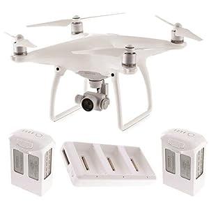 DJI Phantom 4 Quadcopter w/ 4K HD Camera & Gimbal + 2 Extra Batteries (Total: 3 batteries) from DJI