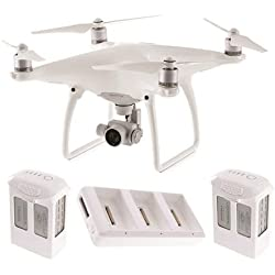 DJI Phantom 4 Quadcopter w/ 4K HD Camera & Gimbal + 2 Extra Batteries (Total: 3 batteries)
