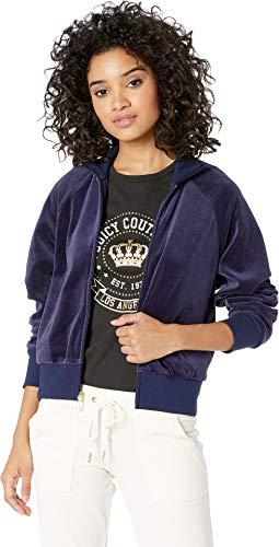 Juicy Couture Black Label Palisades Velour Track Jacket Navy Size M ()