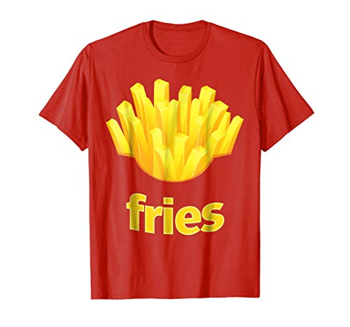 (Funny French Fries T Shirt Humorous Halloween Costume)