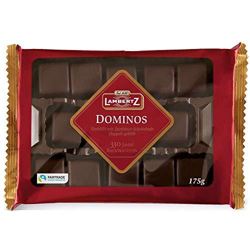 Lambertz Aachener Dominos Zartbitter/Semisweet chocolate covered blocks 175g