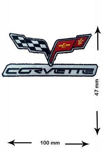Patch - Chevrolet Corvette- Cars - Motorsport - Racing Car Team - Iron on Patch - Embroidered Patches - Applique - Sign - Badge - Costume - Gift - (Tips Chevrolet Corvette)