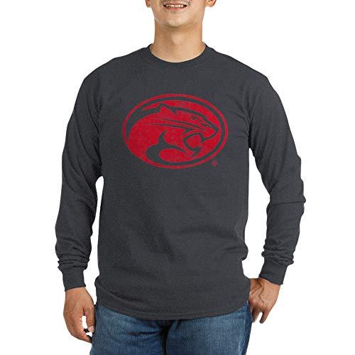 CafePress Houston Cougars Distressed Long Sleeve T Shirt Unisex Cotton Long Sleeve T-Shirt Charcoal (Mascot Houston Pants)