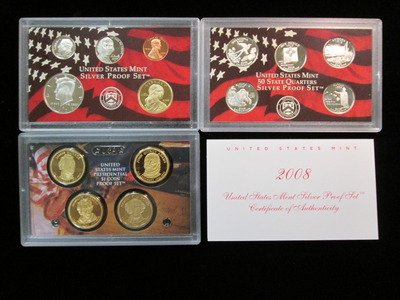 2008 S Silver Proof Set 14 Piece Set