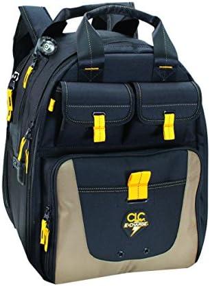 CLC Custom Leathercraft ECPL38 E-Charge Lighted USB Charging Tool Backpack, 36 Pocket