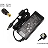 Laptop Charger forSamsung N145 Plus NP-N145-JP01FRCompatible Replacement Notebook Adapter Adaptor Power Supply - Laptop Power (TM) Branded (UK Powercord and 12 Month Warranty)