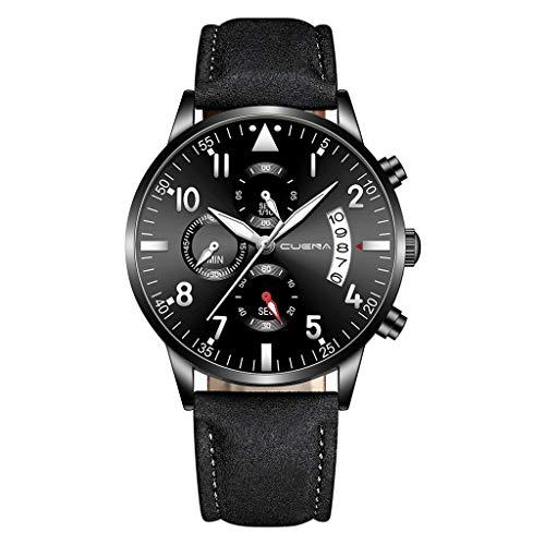- YEZIJIN Men Military Luxury Sports Watch Analog Sport Leather Quartz Mens Watches Under 10