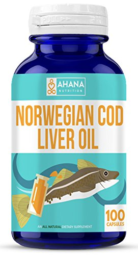 Norwegian Cod Liver Oil Capsules 1000mg - Rich In Omega-3 Fatty Acids, Vitamin A, Vitamin D & Includes The Purest Extract