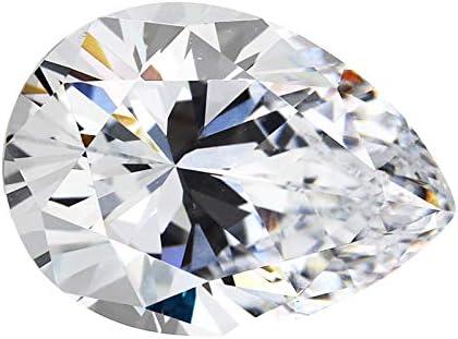 CZ 6A Grade pear Shape White Color Cubic Zirconia Artificial Loose Gemstones 100pcs 2x3mm