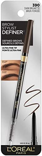 L'Oréal Paris Makeup Brow Stylist Definer Waterproof Eyebrow Pencil, Dark Brunette, 1 C