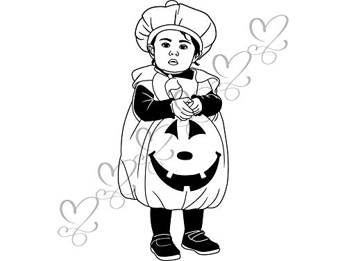 Yetta Quiller Cute Baby Boy Toddler Outfit Halloween Costume Fashionable Happiness Vector Clipart Vinyl Sticker Circuit Vinyl Wall Decor Cutting ()