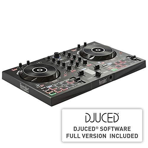 Hercules DJControl Inpulse 300 | 2 Channel USB Controller, with Beatmatch Guide, DJ Academy and full DJ software DJUCED included (Hercules Dj Console)