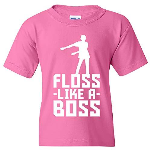 Floss Like A Boss - Flossin Dance Funny Emote Youth T Shirt - Medium - Azalea Pink]()