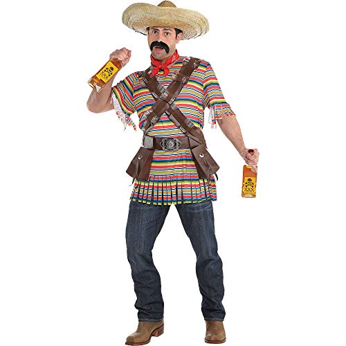 amscan Suit Yourself Tequila Bandito Halloween Costume for Men, Standard Size, Includes Accessories -