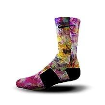 HoopSwagg Watercolor Whirlwind Custom Nike Elite Socks