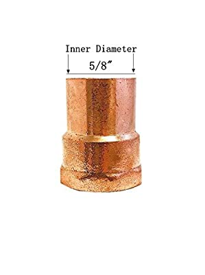 Libra Supply Copper Pressure Female Adapter Solder Joint C x FTG, (click in for more size options)Copper Pressure Pipe Fitting Plumbing Supply