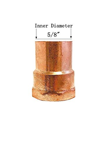 3/4' Copper Fitting Adapter - Libra Supply 1/2'' ,1/2 inch, 1/2-inch Copper Pressure Female Adapter Solder Joint C x FIP, (Pack of 5 pcs, click in for more size options)Copper Pressure Pipe Fitting Plumbing Supply