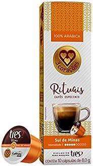 Cápsula de Café Espresso, Sul de Minas, Rituais, 10 Unidades, Tres, 3 Corações