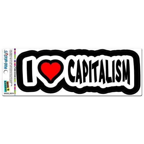 - Graphics and More I Love Heart Capitalism Automotive Car Refrigerator Locker Vinyl Magnet