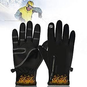 PINPOXE Gants de Ski, Hiver Étanche Gants, Hiver Chaud Gants, Confort Gants Sport pour extérieur compatibles écran Tactile Gants d'hiver Vent pour Homme et Femme Hiver pour Velo Randonné Camping,XL