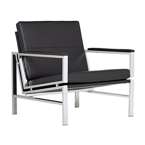 Studio Designs 72005   Bonded Leather Atlas Accent Chair, Bl