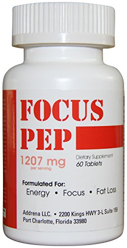Addrena Focus Pep OTC Stimulants Brain Boosting Dietary Supplement, 1207 mg, 60 Tablets