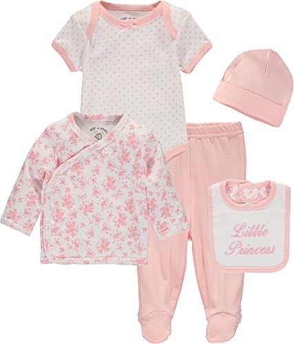 Wan-A-Beez Baby Boys' and Baby Girls' Take Me Home Set. Layette Gift Set for Newborns (Princess, Newborn)