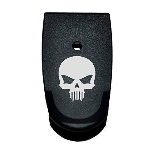 Plate Base Shield - BASTION Extended Magazine Base Plate, Butt Plate for Smith & Wesson M&P Shield Skull
