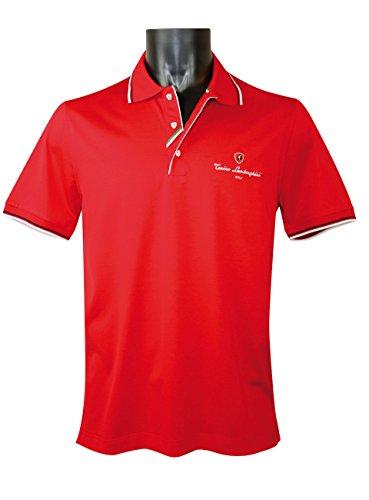 Tonino Lamborghini Golf Men's Jersey Cotton Polo Shirt (Large) Alpha Cotton Polo Shirt