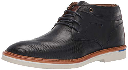 Steve Madden Men's DAZIER Chukka Boot, Navy Leather, 10 M US