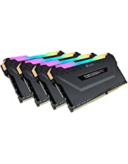 Corsair CMW64GX4M4C3200C16 VENGEANCE RGB PRO 64GB (4x16GB) DDR4 3200 (PC4-25600) C16 Desktop memory Black