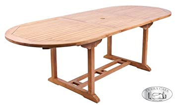 Table de Jardin Manado Extensible en Teck 180-240 cm Table ...