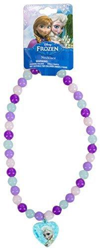 Frozen Beaded Rainbow Necklace w/ Plastic (Girls Beaded Necklace)