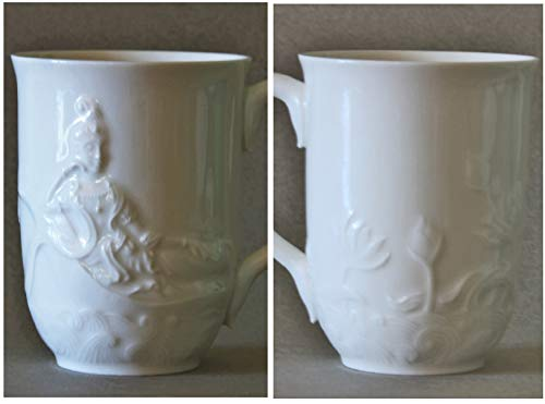 Quan Yin Mug with Lotus Lid in White Porcelain