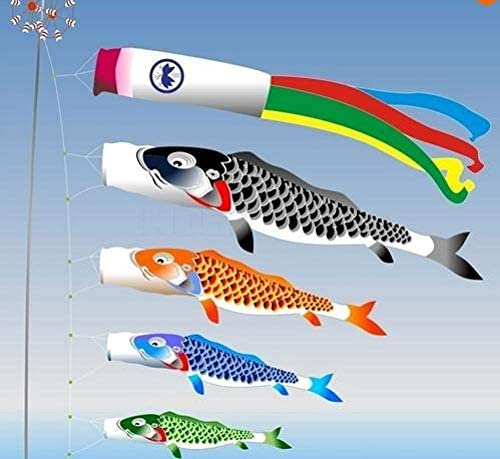 こいのぼり鯉吹き流しストリーマ魚の旗装飾メッド魚カイトは壁の装飾を吊るします AMINIY (Color : 150cm)