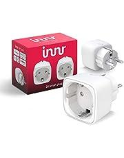 Innr Smart Plug, compatibel met Philips Hue*, Alexa & Hey Google (bridge vereist) slimme stekker, 2300W, 10A, 2-Pack, SP 220-2